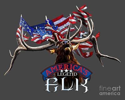 America's Legend Elk Poster