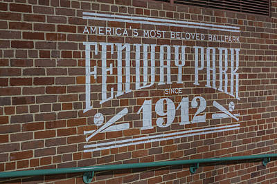 America's Most Beloved Ballpark - Fenway Poster by Susan Candelario