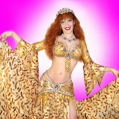 Ameynra Belly Dance Fashion Star Sofia Metal Queen Poster by Sofia Metal Queen