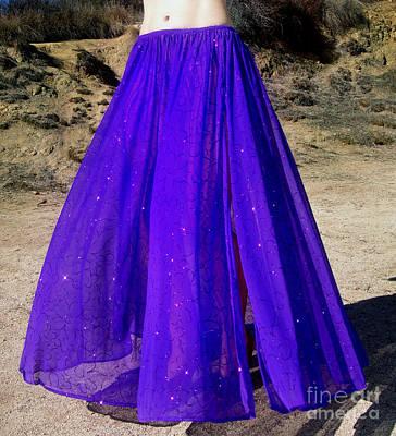 Ameynra Fashion Purple-blue Maxi Skirt Poster by Sofia Metal Queen
