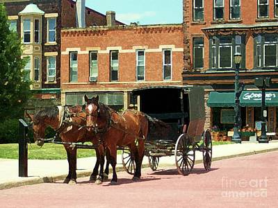 Amish Buggy Poster by Desiree Paquette