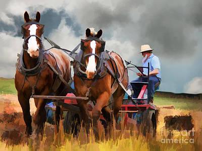 Amish Farmer Poster