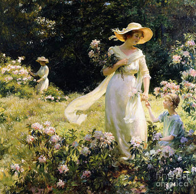 Among The Laurel Blossoms Poster by Charles Courtney Curran