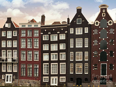 Amsterdam Architectre At Twilight Poster by Jane Rix