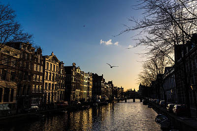 Amsterdam Canal And The Canal Houses Poster by Semmick Photo