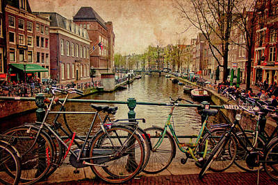 Amsterdam Canal Poster by Jill Smith