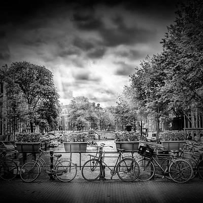 Amsterdam Gentlemen's Canal - Monochrome Poster by Melanie Viola