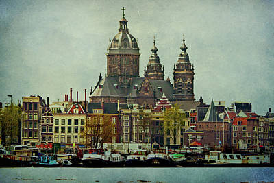 Amsterdam Skyline Poster by Jill Smith