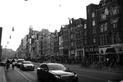 Poster featuring the photograph Amsterdam Traffic 2 by Scott Hovind