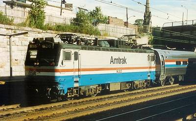Amtrak Aem-7 Poster