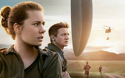 Amy Adams Jeremy Renner Arrival   Poster by F S