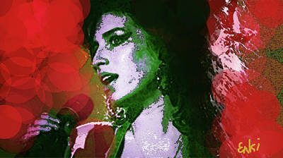 Amy Red And Green  Poster