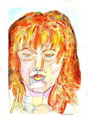 Face Planes Poster by Debbie Davidsohn