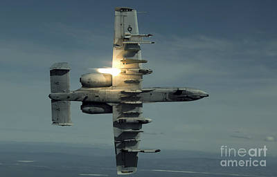 An A-10 Warthog Breaks Over The Pacific Poster