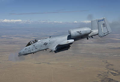 An A-10c Thunderbolt Fires Its 30mm Poster by HIGH-G Productions
