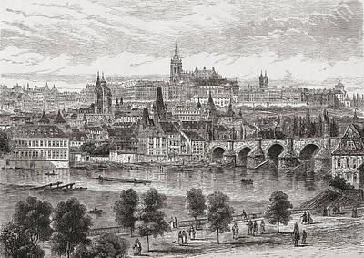 An Aerial View Of Prague, Czech Poster