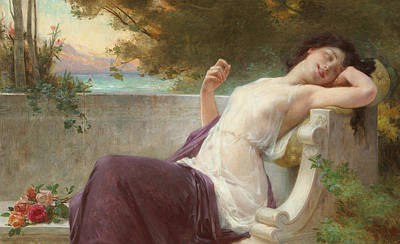 An Afternoon Rest Poster by Guillaume Seignac