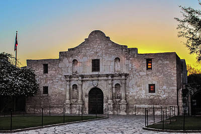 An Alamo Sunrise - San Antonio Texas Poster by Gregory Ballos
