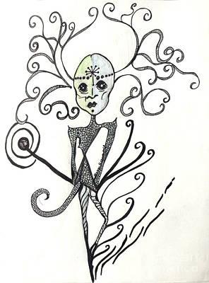 An Alien Encounter Poster by Damaya Hoffman