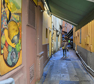 Poster featuring the photograph An Alley In Nice by Allen Sheffield
