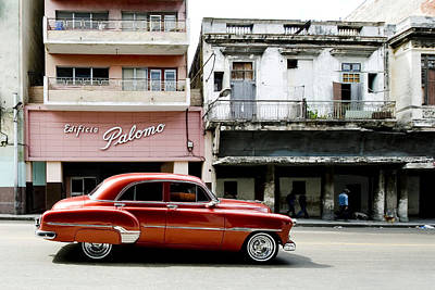 Poster featuring the photograph An American In Havana by Denis Rouleau