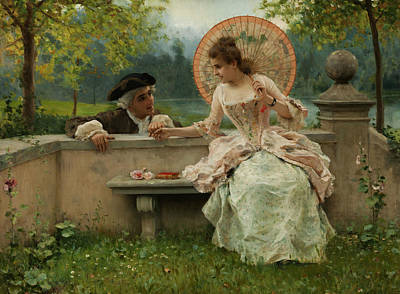 An Amorous Conversation In The Park Poster by Federico Andreotti