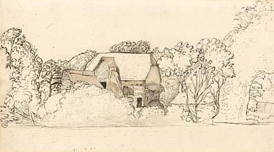An Ancient Barn At Shoreham Poster