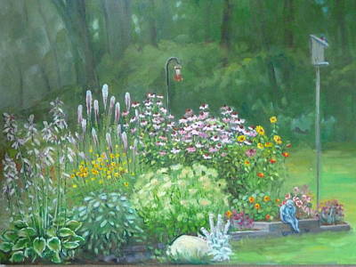 An Angel In My Garden Poster by Bonita Waitl