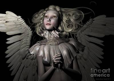 An Angel's Prayer Poster by Sandra Bauser Digital Art
