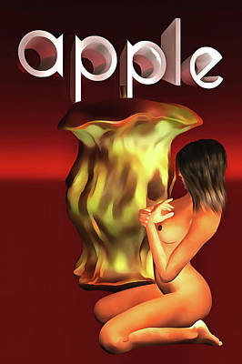 Poster featuring the painting An Apple A Day by Jan Keteleer