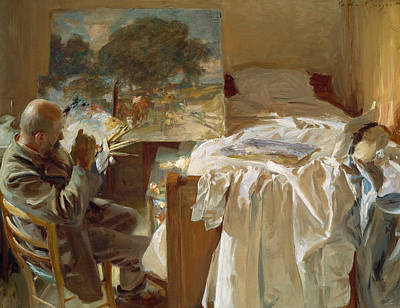 An Artist In His Studio Poster by John Singer Sargent