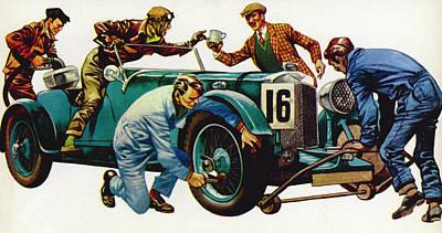 An Aston Martin Racing Car, Vintage 1932 Poster