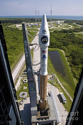 An Atlas V Rocket On The Launch Pad Poster