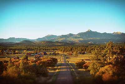 An Autumn Evening In Pagosa Meadows Poster