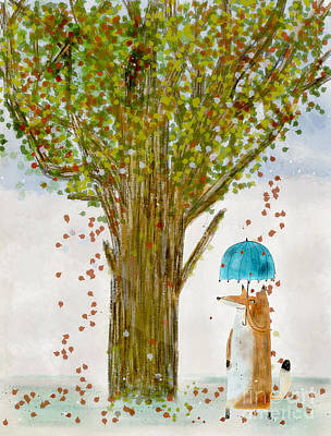 Poster featuring the painting An Autumns Day by Bri B