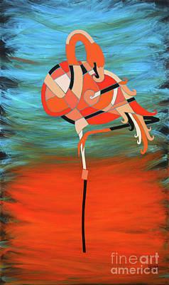 An Elegant Flamingo Poster