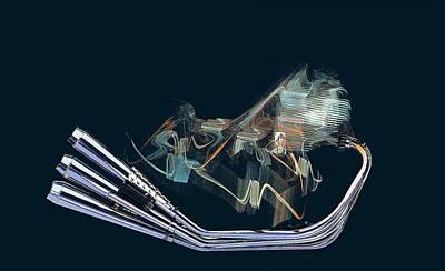 An Engine. Motorcycle Engine Poster by Viktor Savchenko