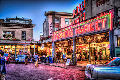 An Evening At Pike Place Market Poster