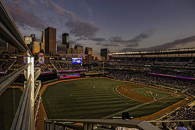 An Evening At Target Field Poster by Tom Gort