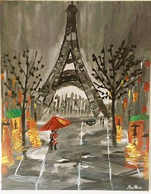An Evening In Paris Poster by Pavithra Polum