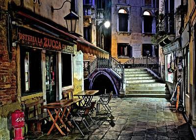 Evening Falls Upon Venice Poster