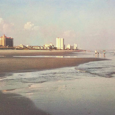 An Evening Walking The Grand Strand Poster
