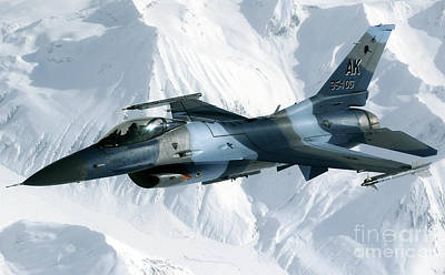 An F-16 Aggressor Disconnectsfrom Poster