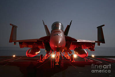 An Fa-18f Super Hornet Parked Poster by Stocktrek Images