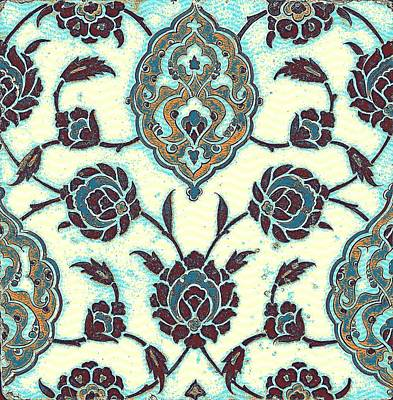 An Iznik Polychrome Tile, Turkey, Circa 1575, By Adam Asar, No 23b Poster