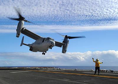 An Mv-22b Osprey Takes Off  Poster