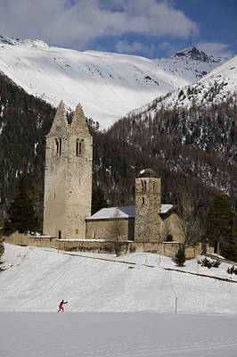 An Old Church And Tower Nestled Poster