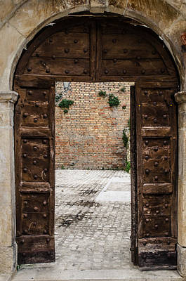 An Old Wooden Door 2 Poster by Andrea Mazzocchetti