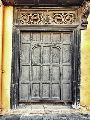 An Old Wooden Door Poster