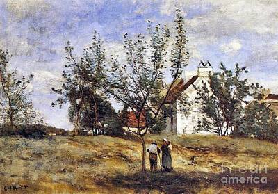 An Orchard At Harvest Time Poster